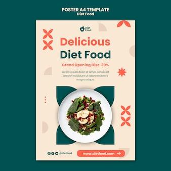 Plantilla de cartel vertical para comida dietética