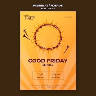 Plantilla de cartel de viernes santo