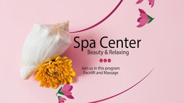 Plantilla de centro de belleza y relax