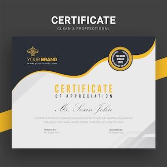 Plantilla de certificado de empresa creativa