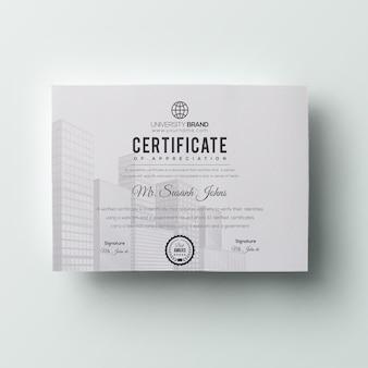 Plantilla de certificado mínima