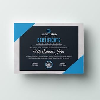 Plantilla de certificado moderna
