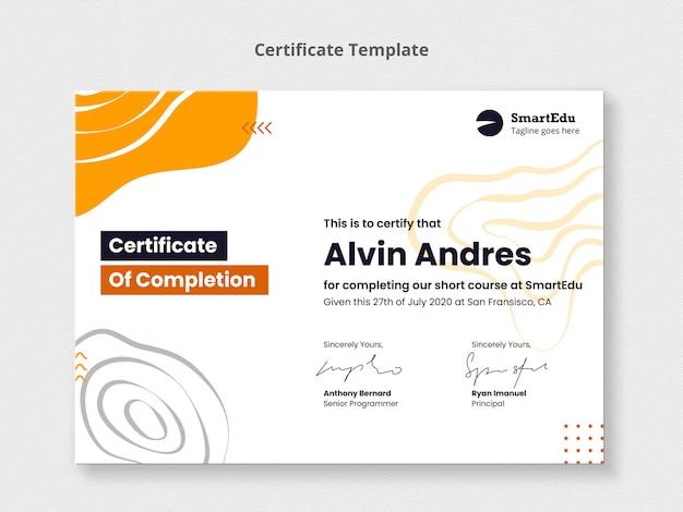 Plantilla de certificado