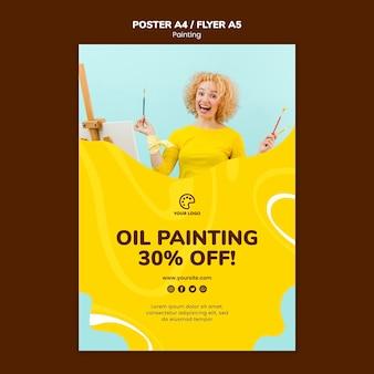 Plantilla de clase de pintura al óleo