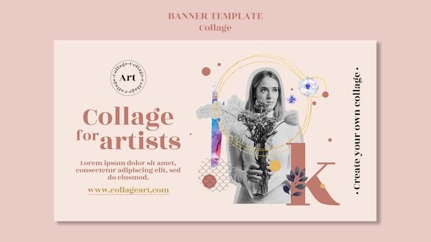Plantilla de collage de banner para artistas