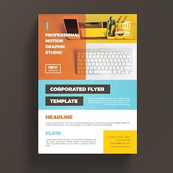 Plantilla colorida corporativa de flyer de negocios