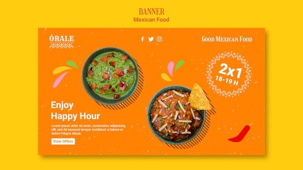 Plantilla de comida mexicana