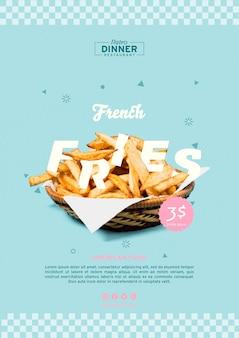 Plantilla de concepto de comida americana