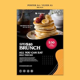 Plantilla de concepto de folleto de brunch
