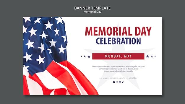 Plantilla de concepto de memorial day