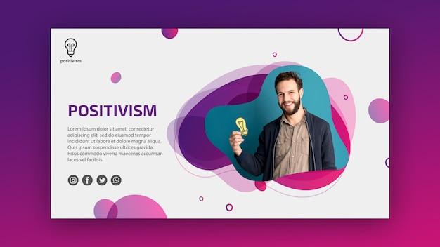 Plantilla de concepto de positivismo