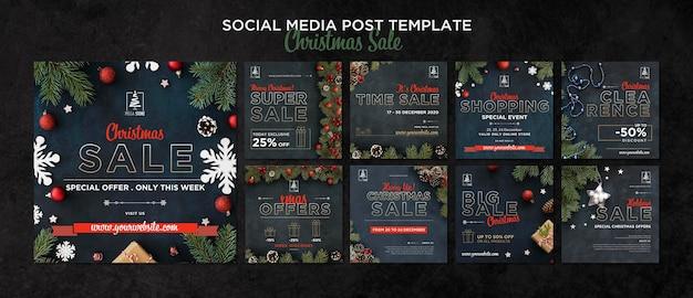 Plantilla de concepto de venta de navidad