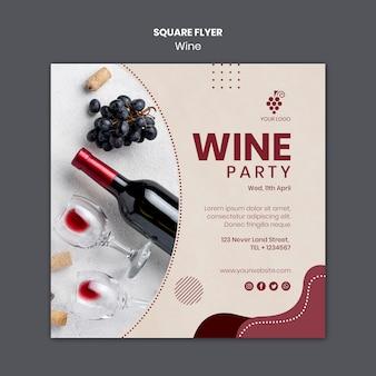 Plantilla de concepto de vino