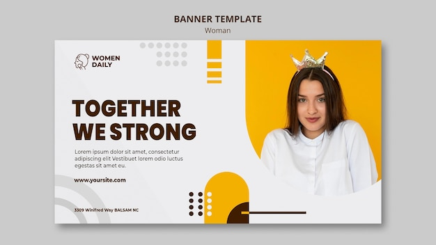 Plantilla de conferencia de feminismo de banner