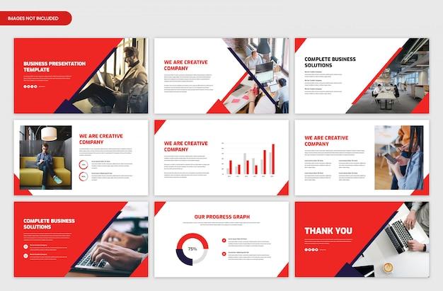 Plantilla de control deslizante de presentación de negocios corporativos modernos
