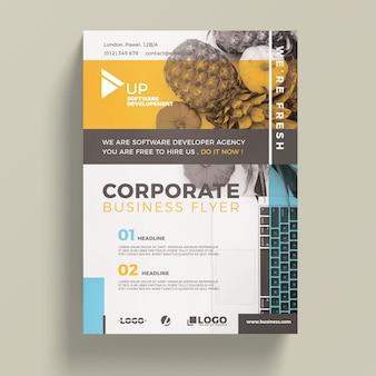 Plantilla corporativa de flyer de negocios
