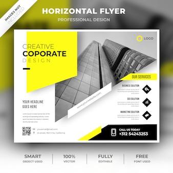 Plantilla corporativa horizontal