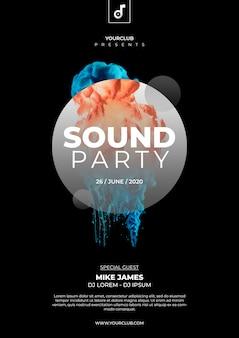 Plantilla de cover de fiesta de sonido