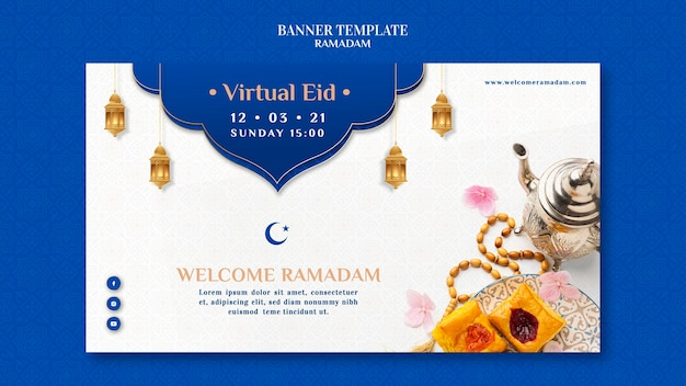 Plantilla creativa de banner de ramadán