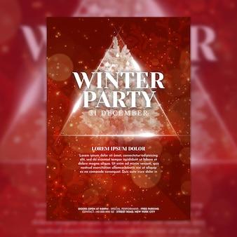 Plantilla creativa de cover para fiesta de navidad
