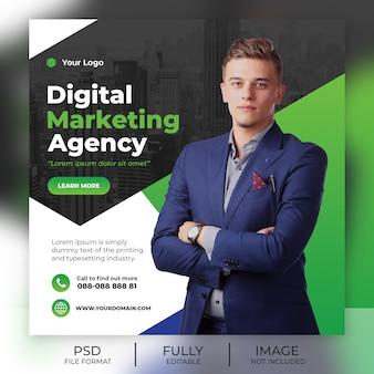 Plantilla cuadrada para publicaciones de redes sociales de marketing digital