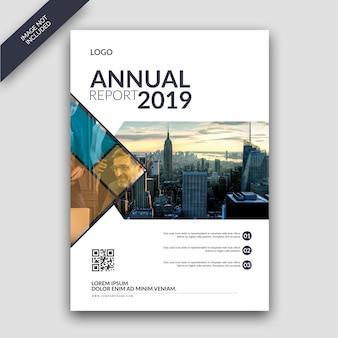 Plantilla de cubierta de informe anual