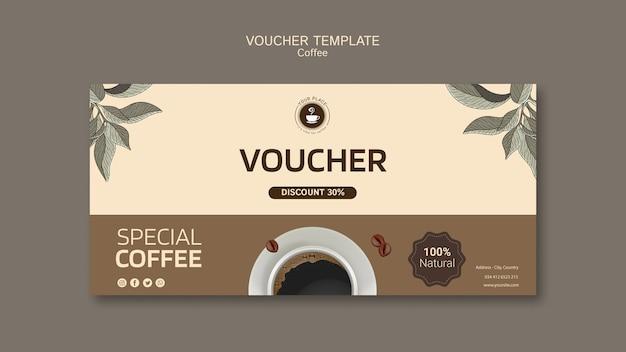 Plantilla de cupones de café