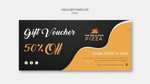 Plantilla de cupones de pizza 50% de descuento