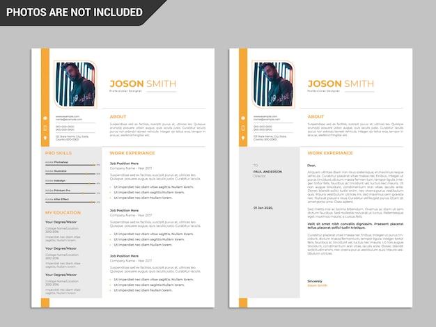 Plantilla de currículum, plantilla de currículum profesional, currículum creativo, plantilla de currículum moderno