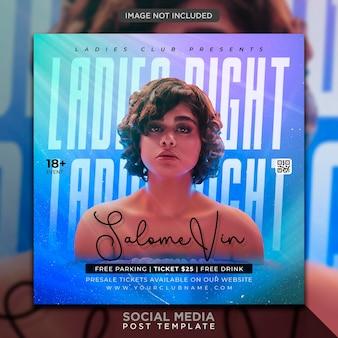 Plantilla de banner web en publicacin de flyer de fiesta de club dj