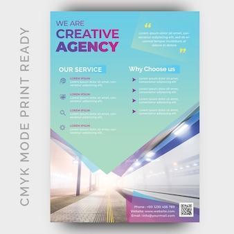 Plantilla de diseño de volante de empresa creativa moderna agencia