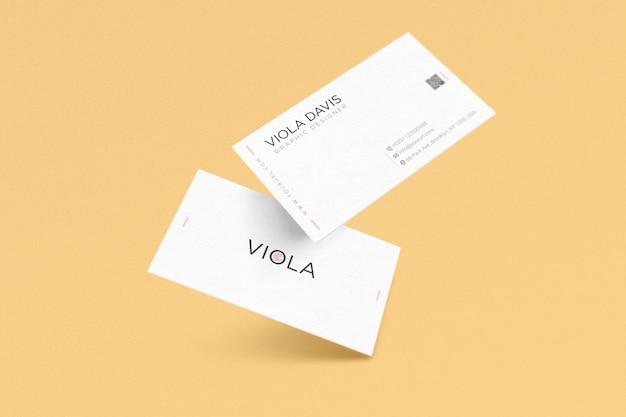Plantilla de tarjeta de negocios blanca