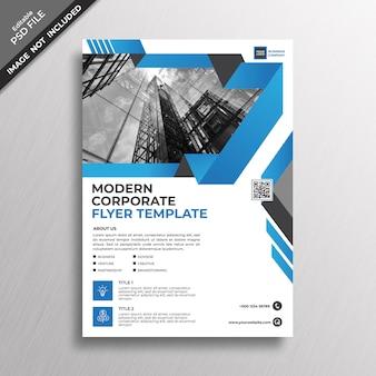 Plantilla de viajero corporativo azul moderno negocio