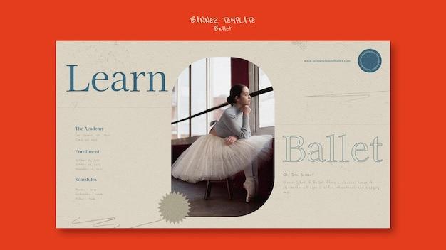 Plantilla de diseño de banner de ballet