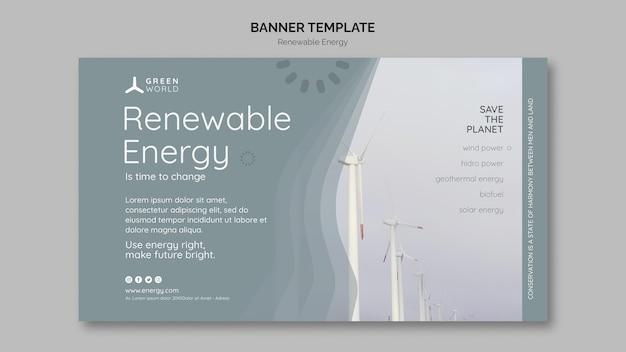 Plantilla de diseño de banner de energía renovable