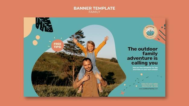 Plantilla de diseño de banner familiar para niños y padres