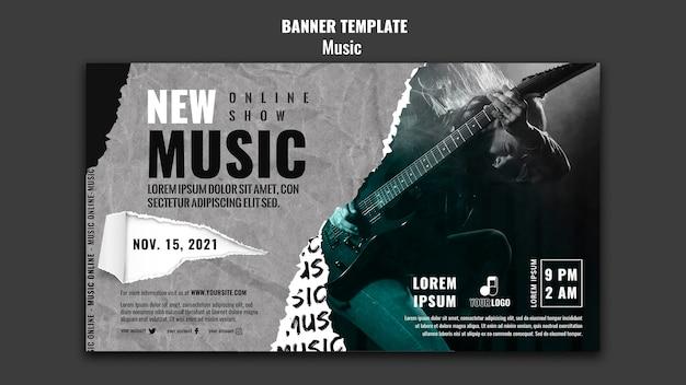 Plantilla de diseño de banner de música