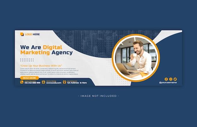 Plantilla de diseño de banner de redes sociales de marketing digital psd