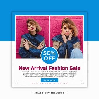 Plantilla de diseño de banner de venta de moda de nueva llegada psd