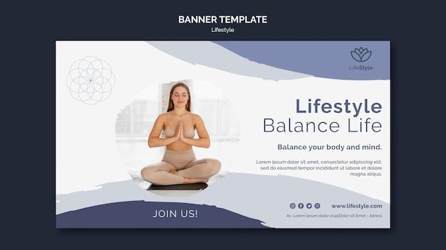 Plantilla de diseño de banner de yoga