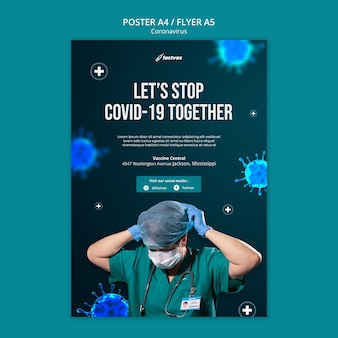 Plantilla de diseño de cartel de coronavirus