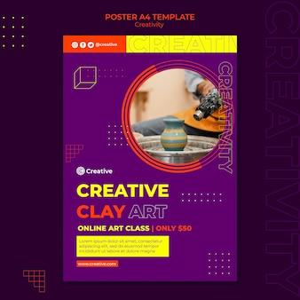 Plantilla de diseño de cartel creativo e imaginativo.