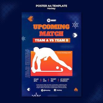 Plantilla de diseño de cartel de deporte de hockey