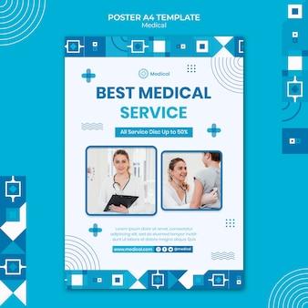 Plantilla de diseño de cartel médico