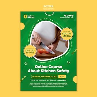 Plantilla de diseño de cartel de seguridad alimentaria