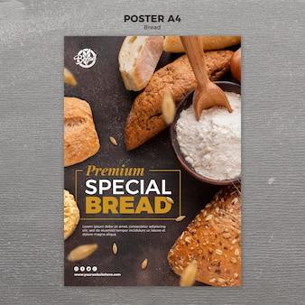 Plantilla de diseño de carteles de pan