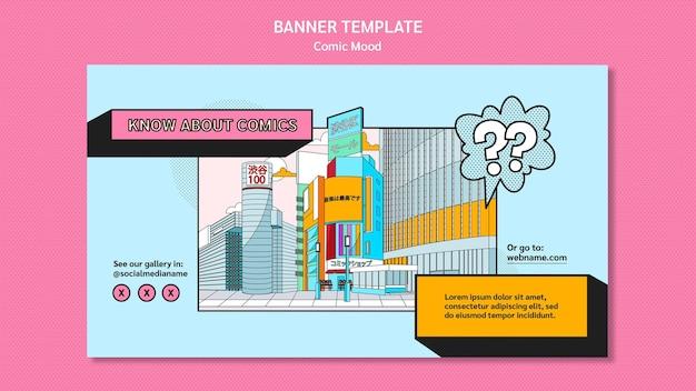Plantilla de diseño de cómic de banner