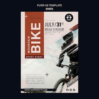 Plantilla de diseño de flyer de deporte de bicicleta