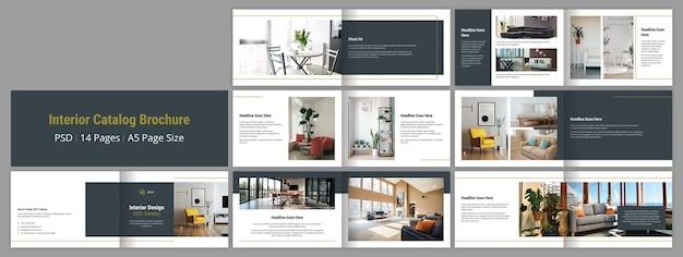 Plantilla de diseño de folleto de catálogo de interiores