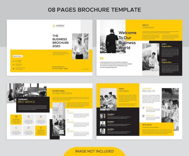 Plantilla de diseño de folleto comercial
